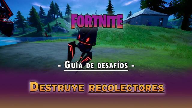 Desafío Fortnite: Destruye recolectores - LOCALIZACIÓN