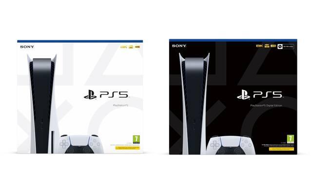 Estas son las cajas de PS5 y PS5 Digital Edition