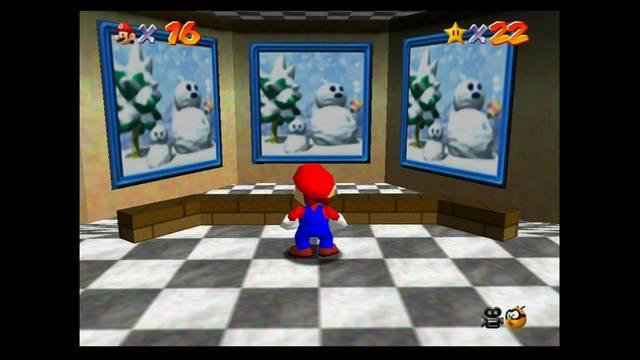 Mundo 4: Cool, Cool Mountain en Mario 64 -  Estrellas y 100%