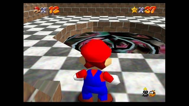 Mundo 6: Hazy Mazy Cave en Mario 64 -  estrellas y 100%