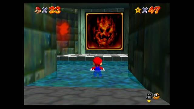 Mundo 7: Lethal Lava Land en Mario 64 -  estrellas y 100%