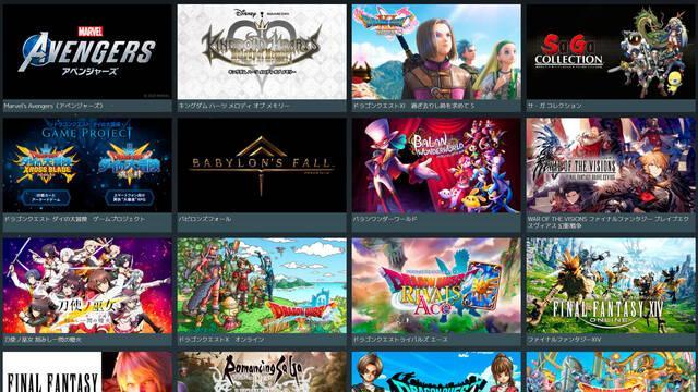 Square Enix Tokyo Game Show 2020 juegos