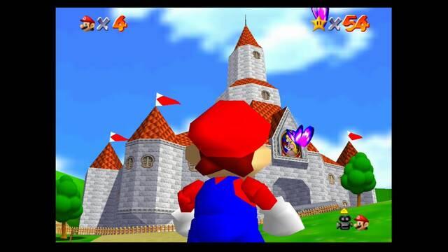 Castillo de Peach en Mario 64: Estrellas y 100%