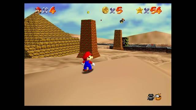 Mundo 8: Shifting Sand Land en Mario 64 -  estrellas y 100%
