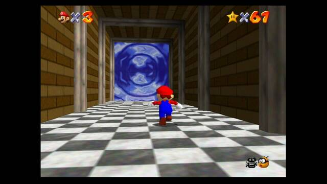 Mundo 9: Dire, Dire Docks en Mario 64 -  estrellas y 100%