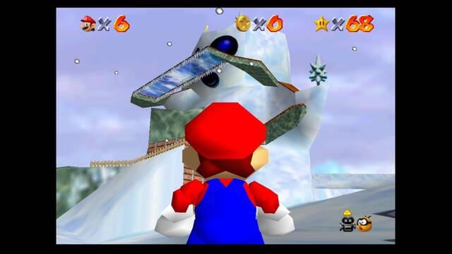 Mundo 10: Snowman's Land en Super Mario 64 - estrellas y 100%
