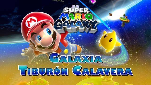 Galaxia Tiburón Calavera en Super Mario Galaxy al 100% y estrellas