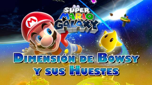 Dimensión de Bowsy y sus Huestes en Super Mario Galaxy al 100% y estrellas