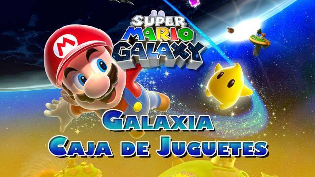 Galaxia Caja de Juguetes en Super Mario Galaxy al 100% y estrellas