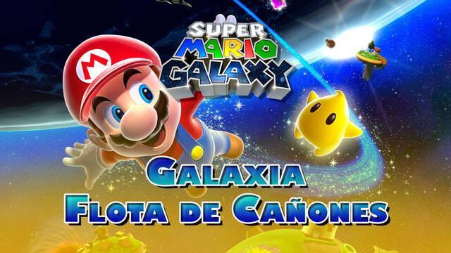 Galaxia Flota de Cañones en Super Mario Galaxy al 100% y estrellas