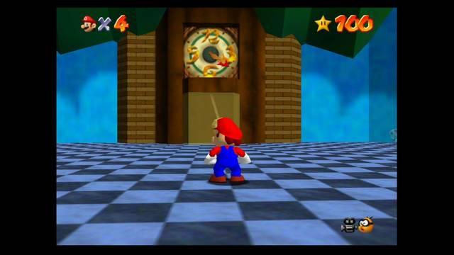 Mundo 14: Tick Tock Clock en Super Mario 64 - estrellas y 100%