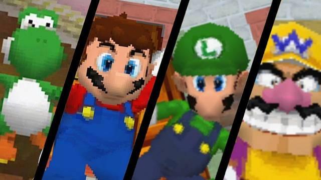 ¿Se puede jugar con Wario, Luigi y Yoshi en Super Mario 64?