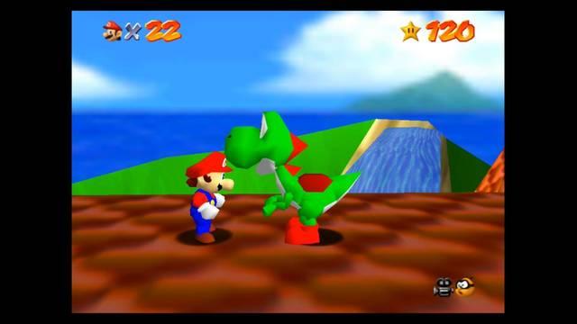 Cómo encontrar a Yoshi en Super Mario 64