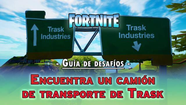 Desafío Fortnite: Encuentra un camión de transporte de Trask - LOCALIZACIÓN