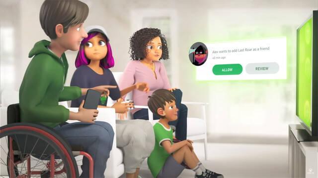 aplicación de Configuración familiar de Xbox