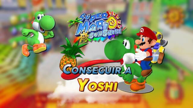 Yoshi en Super Mario Sunshine: cómo conseguirlo y cambiar color