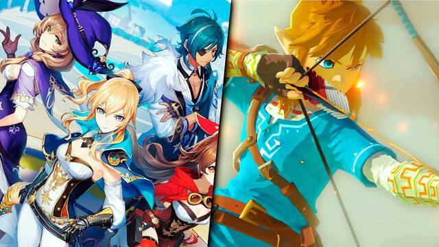 Genshin Impact comparado con The Legend of Zelda: Breath of the Wild