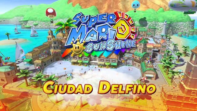 Ciudad Delfino en Super Mario Sunshine al 100% y Soles