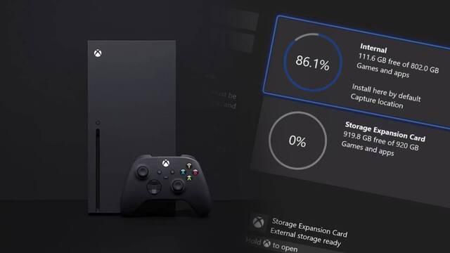 Xbox Series X tendrá un almacenamiento real de 800 GB.