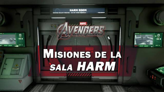 TODAS las misiones de la sala HARM en Marvel's Avengers y recompensas