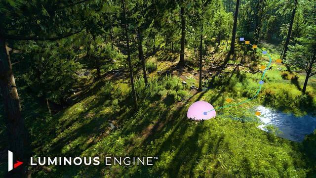 Project Athia Luminous Engine demostración en vídeo del motor