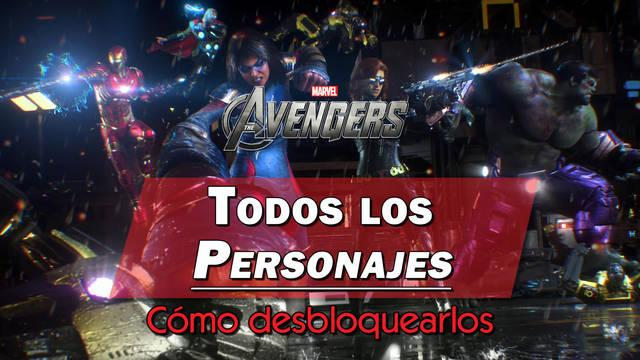 Marvel's Avengers: Todos los personajes, cómo conseguirlos y características