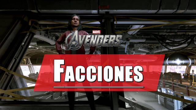 Facciones en Marvel's Avengers: qué son y recompensas