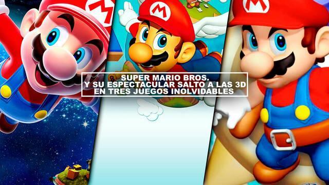 Super Mario Bros. y su espectacular salto a las 3D en tres juegos inolvidables
