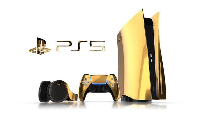Anunciada una PS5 de oro que cuesta más de 9000 euros.