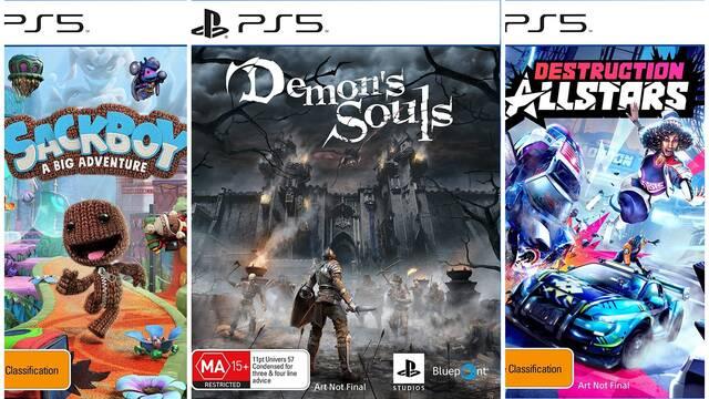 Amazon revela las portadas de juegos de PS5