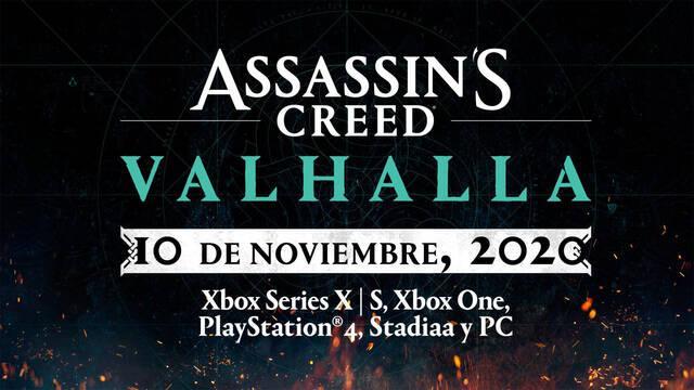 Assassin's Creed: Valhalla adelanta su lanzamiento al 10 de noviembre.