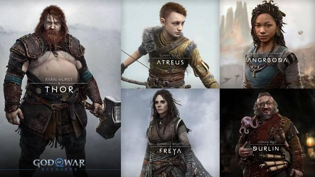God of War: Ragnarok y sus personajes