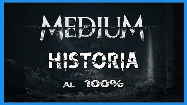 Historia al 100% en The Medium