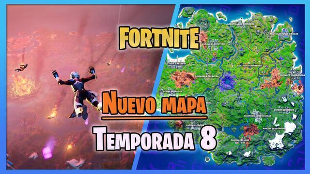 Fortnite - Temporada 8: Nuevo mapa de la isla