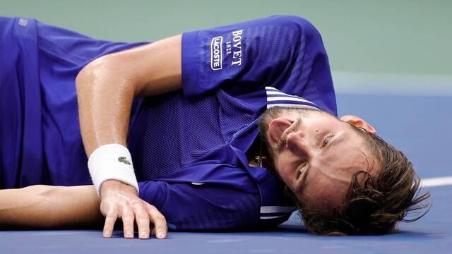 El tenista Daniil Medvedev y su celebración al estilo FIFA