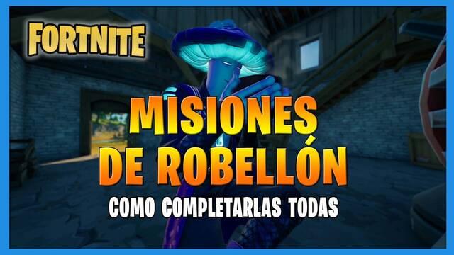 Fortnite T8: TODAS las misiones de Robellón y cómo completarlas
