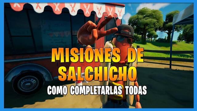 Fortnite T8: TODAS las misiones de  Salchicho y cómo completarlas