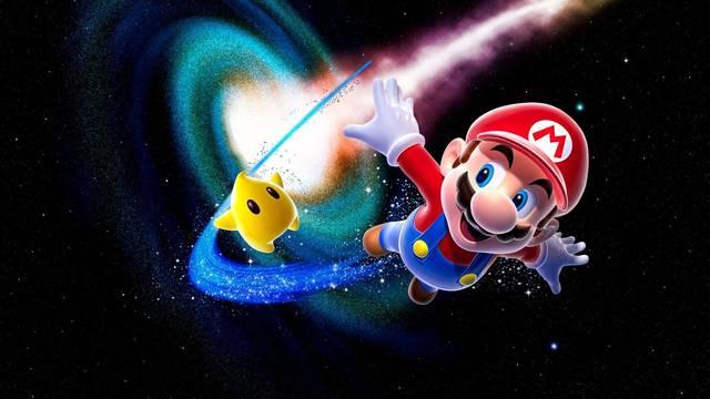 Super Mario partículas espaciales rayos speedrun