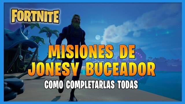 Fortnite T8: TODAS las misiones de  Jonesy Buceador y cómo completarlas