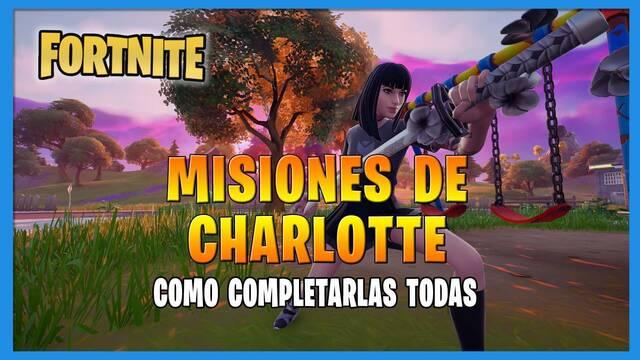 Fortnite T8: TODAS las misiones de Charlotte  y cómo completarlas