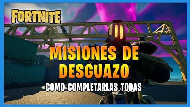 Fortnite T8: TODAS las misiones de Desguazo  y cómo completarlas