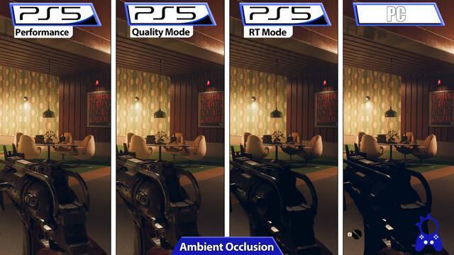Deathloop comparativa PS5 modos PC