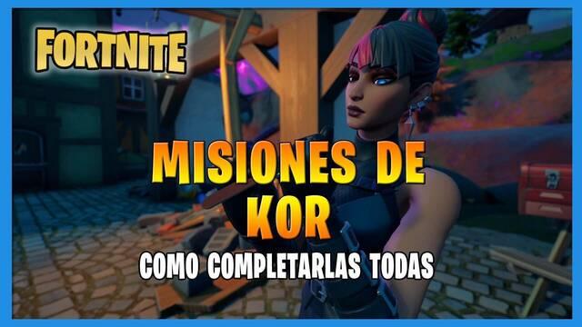 Fortnite T8: TODAS las misiones de Kor  y cómo completarlas