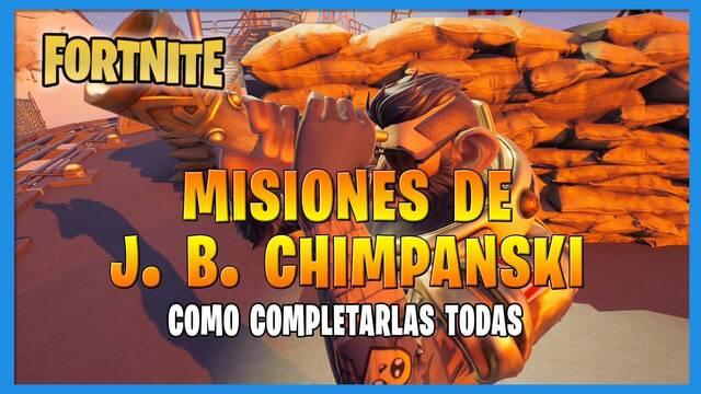 Fortnite T8: TODAS las misiones de J.B. Chimpansky y cómo completarlas