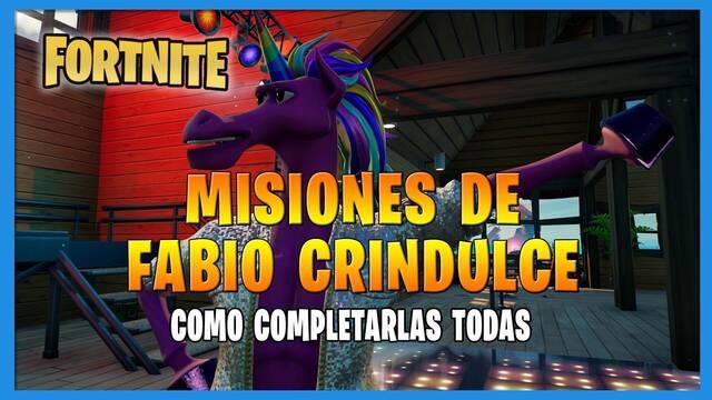Fortnite T8: TODAS las misiones de Fabio Crindulce y cómo completarlas