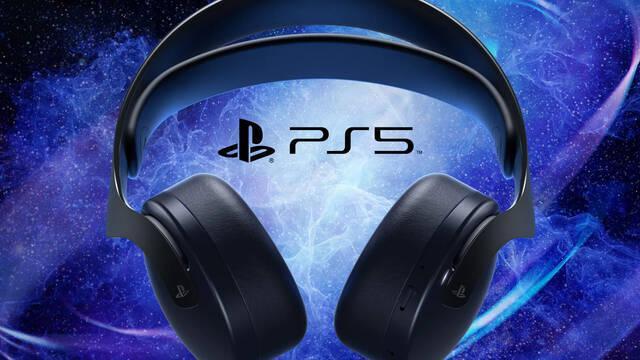 PlayStation anuncia los nuevos auriculares inalámbricos Pulse 3D en negro para PS5.