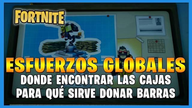 Fortnite T8: Cajas de Esfuerzos globales - Que son y cómo funcionan
