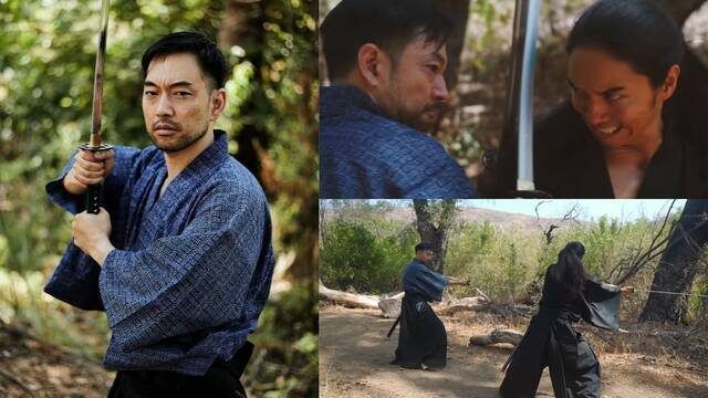 Ghost of Tsushima y su actor haciendo los movimientos de Jin Sakai