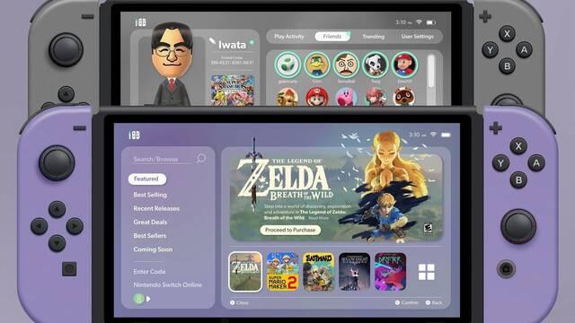 Un fan reimagina la interfaz de Switch con diversas mejoras y nuevas funciones