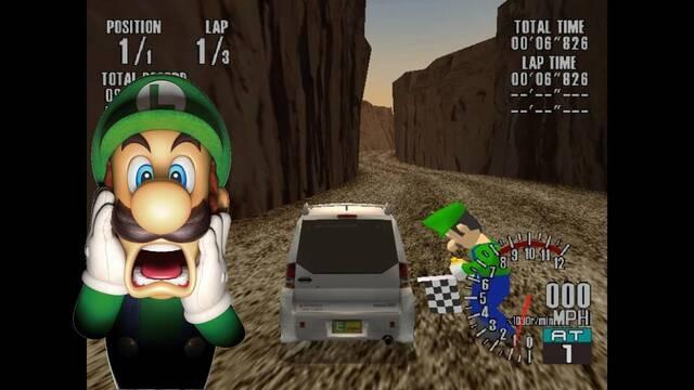 Luigi en SEGA GT
